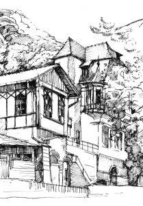 Karlsruher-Haus-im-Heidelberger-Skizzenbuch